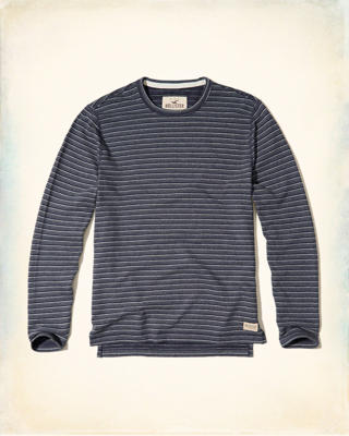 Stripe Terry Crew T-Shirt