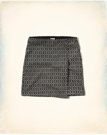 hol Wrap Front Ponte Bodycon Skirt
