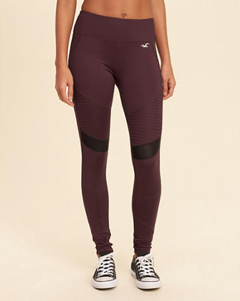 Hollister Cali Sport Mesh Panel Moto Leggings