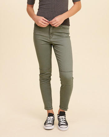 High-Rise Crop Super Skinny Pants
