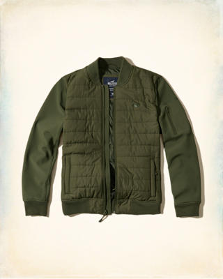 Quilted Softshell Bomber Jacket