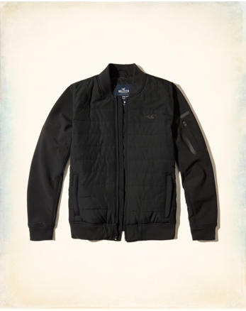 hol Quilted Softshell Bomber Jacket