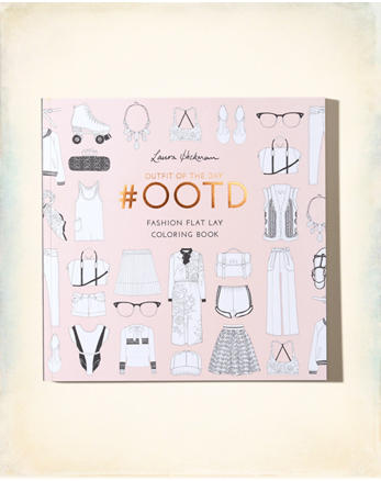 hol Chronicle Books #OOTD: Fashion Flat Lay Coloring Book