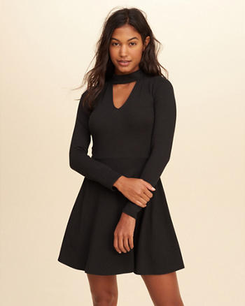 Knit Skater Choker Dress