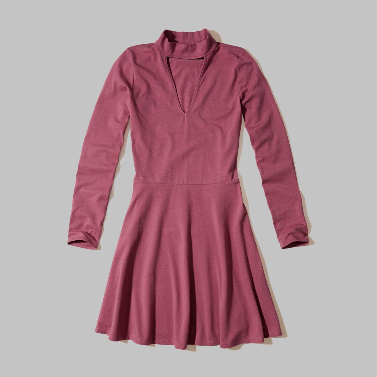 Knit Skater Choker Dress