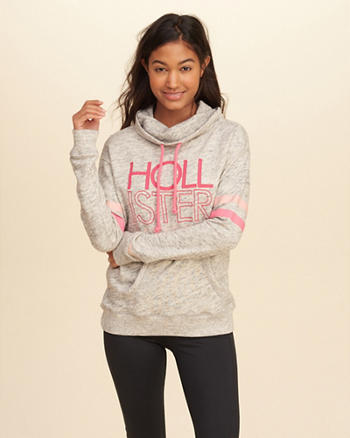 Graphic Cowl Neck Sweatshirt