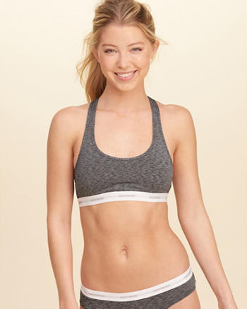 Removable-Pads Ribbed Scoop Racerback Bralette