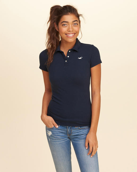 polo shirts for girls hollister co