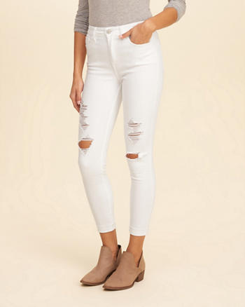 Hollister High-Rise Crop Super Skinny Jeans