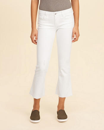 Low-Rise Crop Flare Jeans