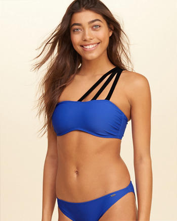 Strappy One-Shoulder Swim Top