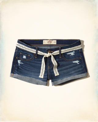 Low-Rise Denim Short-Shorts