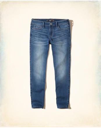 hol Stretch Low-Rise Crop Super Skinny Jeans