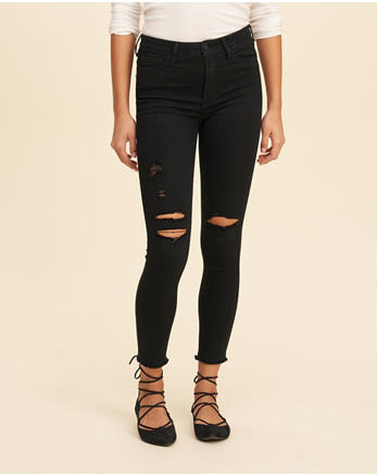 hol High-Rise Crop Super Skinny Jeans