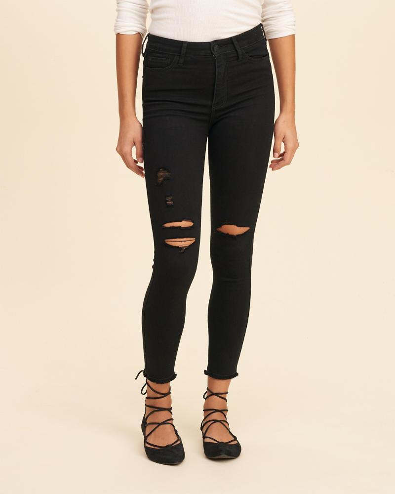 26b1e75e5db Stretch High-Rise Crop Super Skinny Jeans