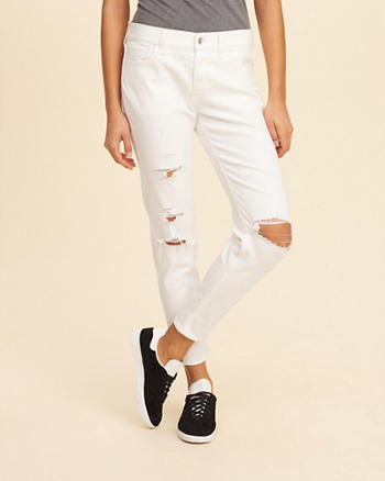 Hollister Ultra Low-Rise Slim Boyfriend Jeans