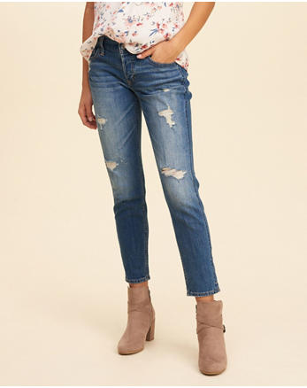 hol Ultra Low-Rise Slim Boyfriend Jeans