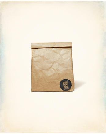 hol Luckies Brown Paper Lunch Bag