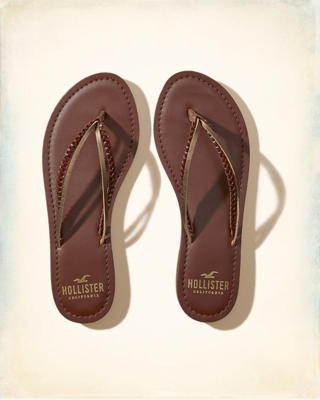 Vegan Leather Mixed Strap Flip Flop