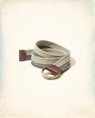 Two-Tone D-Ring Belt