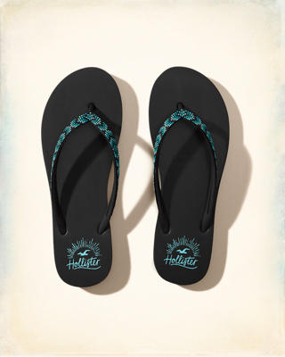Beaded Rubber Flip Flop