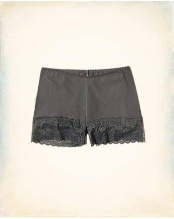 hol Lace-Trim Cotton Layering Short