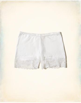 hol Lace-Trim Cotton Layering Short