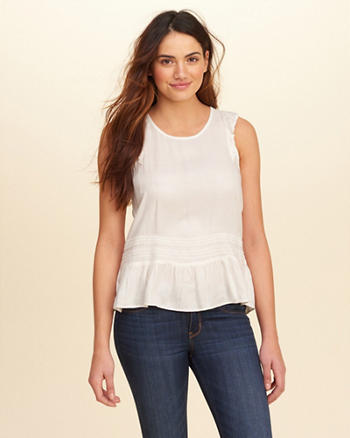 Flutter-Sleeve Ruffle Top