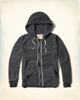 Textured Zip-Up Hoodie