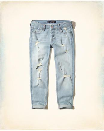 hol Stretch Low-Rise Boyfriend Jeans