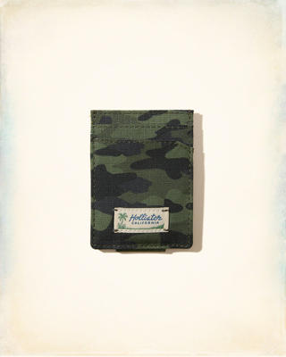Camo Money Clip Card Case