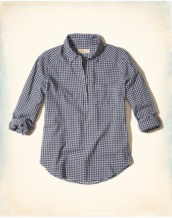 hol Plaid Cotton Popover Shirt