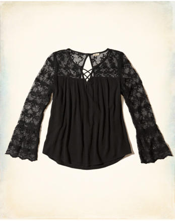 hol Strappy Bell-Sleeve Top