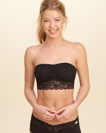 Lace Longline Bandeau With Removable Pads