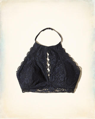 Keyhole High-Neck Bralette With Removable Pads