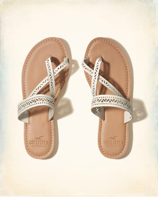 Vegan Leather Slide Sandal