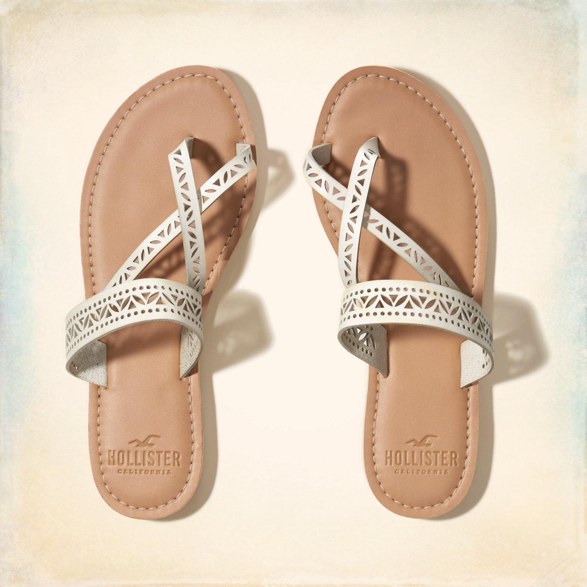 Vegan Leather Slide Sandal