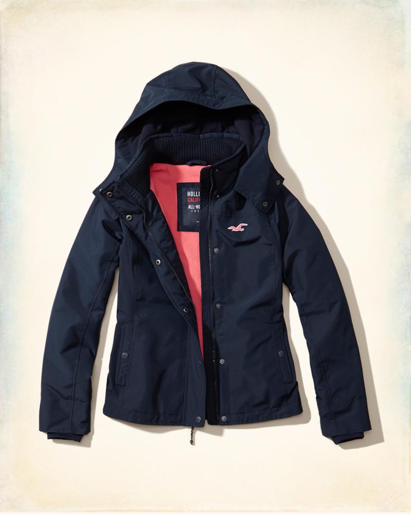 Girls Hollister All-Weather Fleece Lined Jacket | Girls ...