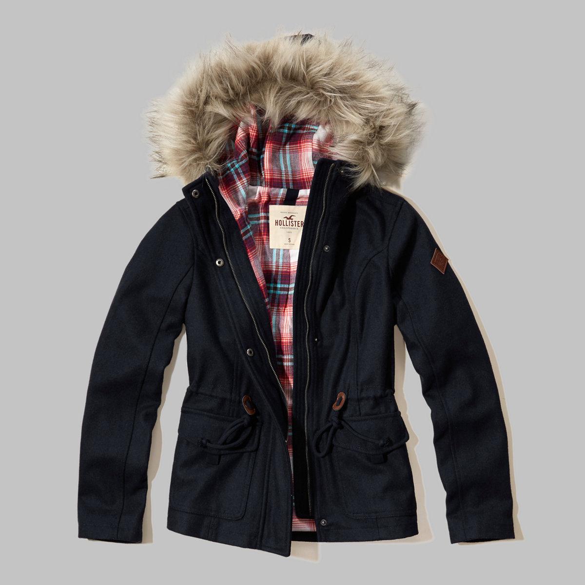 Wool Anorak Jacket