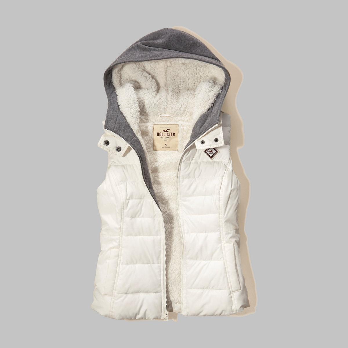 Sherpa Lined Twofer Puffer Vest