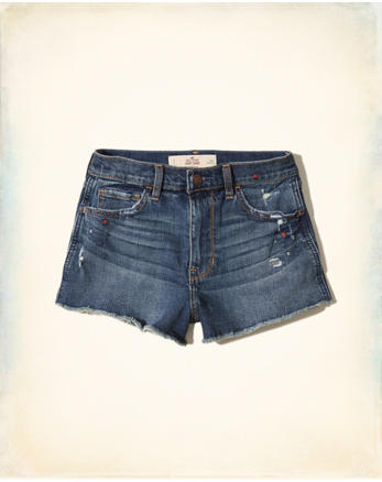 hol High-Rise Denim Vintage Shorts