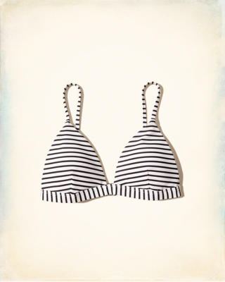 Patterned Triangle Swim Top