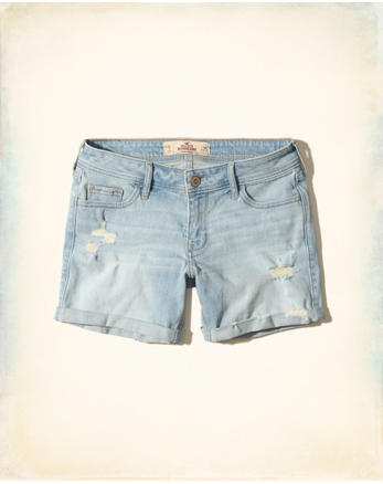 hol Ultra Low-Rise Boyfriend Shorts