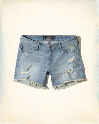 Ultra Low-Rise Boyfriend Shorts