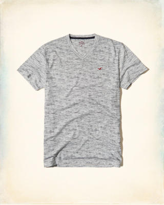 Must-Have Textured V Neck T-Shirt