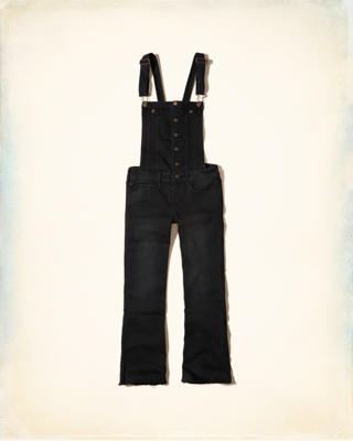 Crop Flare Denim Overalls