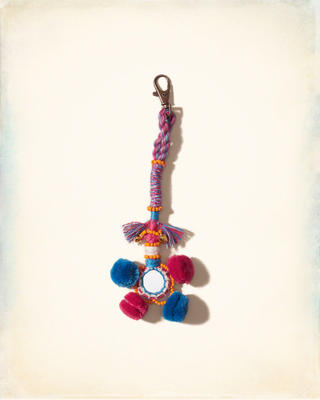 Threaded Pom Keychain
