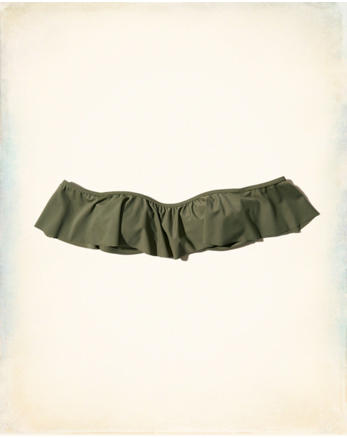 hol Off-The-Shoulder Flounce Bikini Top