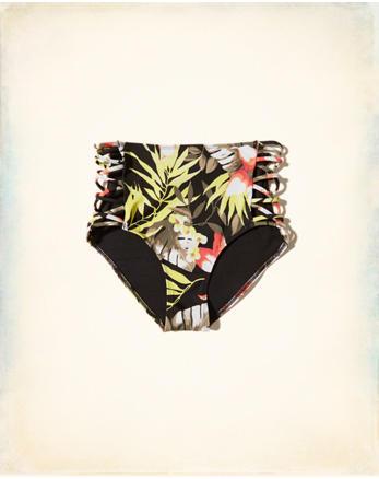 hol Strappy High-Waist Bikini Bottom