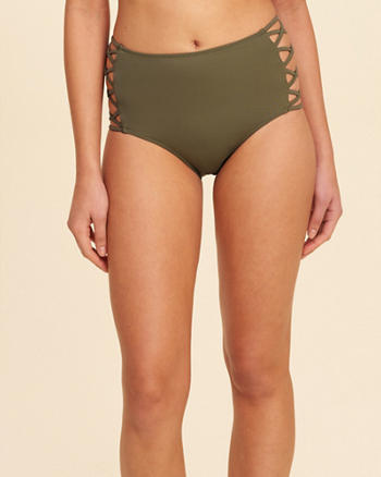 Strappy High-Waist Bikini Bottom